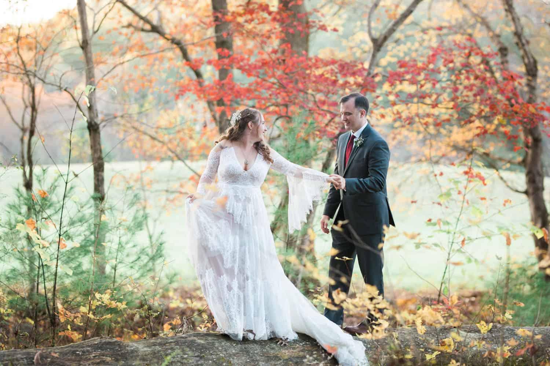 Smoky Mountain Wedding Photographer capturing Cades Cove in the mountains