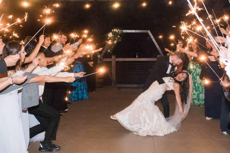 Smoky Mountain Wedding Photographer capturing sparker exits