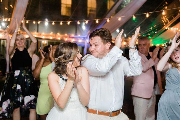 candid wedding reception images