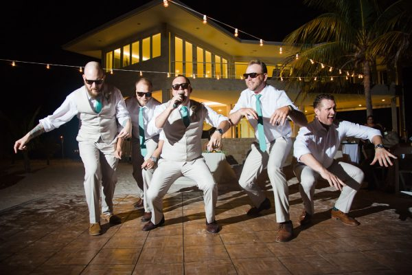 choreographed dance - candid wedding reception images